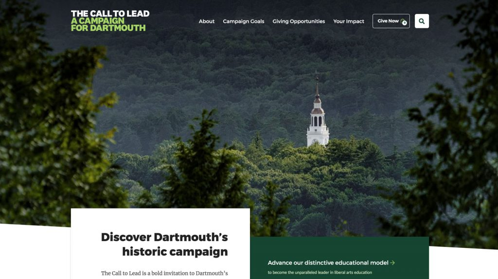 Dartmouth College capital campaign website