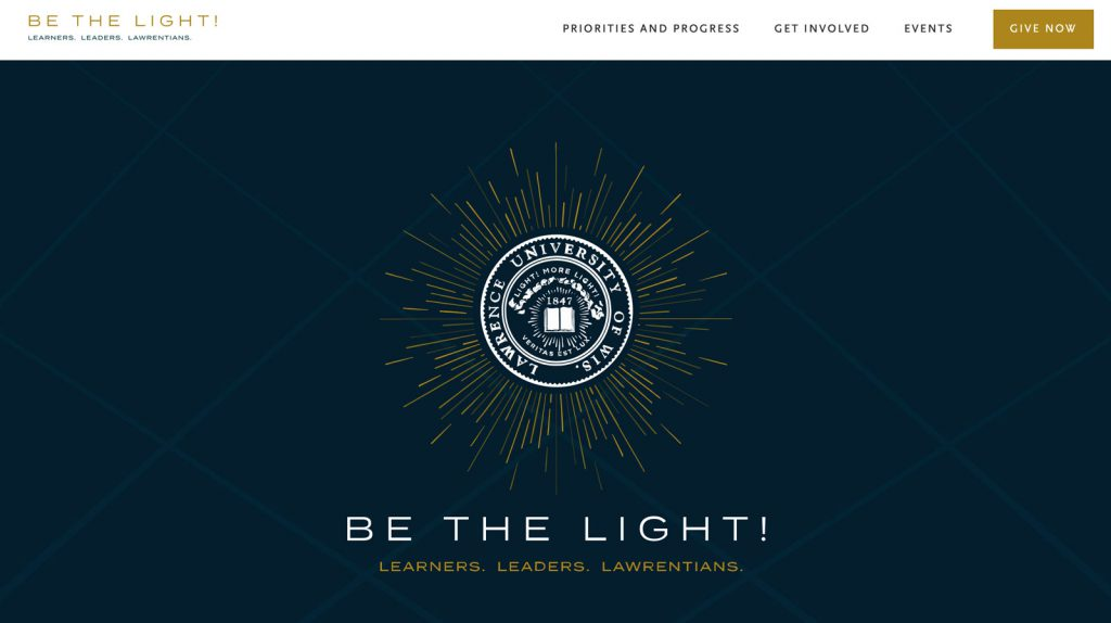 Be the Light—Lawrence University capital campaign website