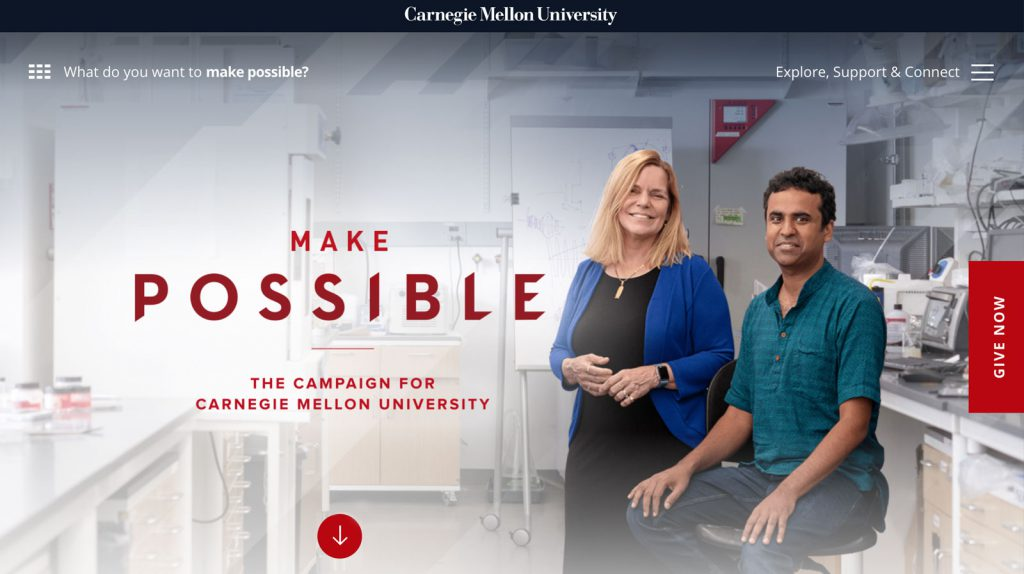 the best capital campaign websites